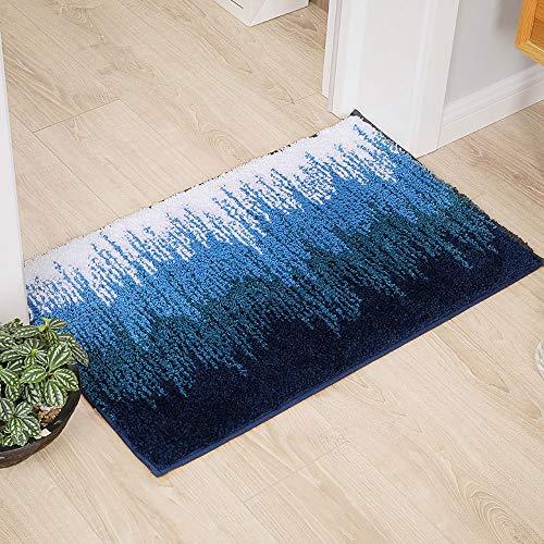 Preisvergleich Produktbild Z&J Kreative Bodenmatte Schlafzimmer Küche Eingangstür Fuß Pad Badezimmer Badezimmer Boden Anti-Rutsch-Türmatte absorbierende Fußmatten DREI Farben optional (Color : Blue,  Size : 15.7x23.6in)