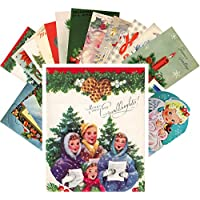Vintage Christmas Tarjeta Postale 24pcs Merry Christmas And Happy New Year REPRINT Postcard Pack Navidad