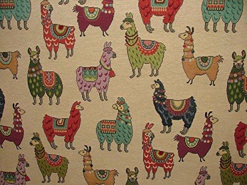 1m Tier Tapisserie Lama/Alpaka Designer Stoff ideal für Polsterung Vorhänge Kissen Überwürfe (Chenille-gobelin-polster)
