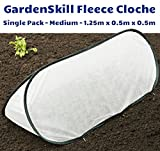 Single Pack - Small - 1m x 0.4m x 0.4m - Garden Pop-up Fleece Cover Cloche Tunnel for Frost Protection