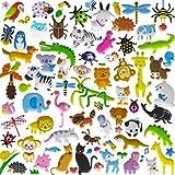 PeterPon Aufkleber für Kinder, 8 / 10 Bögen (400 ~ 500 Stück), Tier-Aufkleber, 3D-Schaumstoff, Kinder-Aufkleber und Kinder-Aufkleber für Kleinkinder.