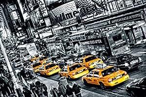 New York Papier Peint Photo/Poster - Réunion De Taxis, 8 Parties (368 x 254 cm)