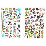 96Lot de tatouages pour enfants coloré design | motifs différents Tatouages pour enfants jouer | amusant cartoon couleurs | Beyond Dreams