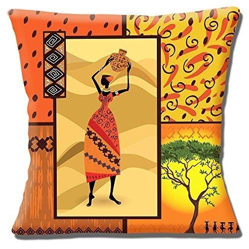 Africani Tribale Donna Giallo Arancio Beige Paralumi