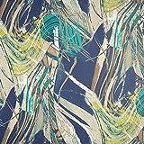 Fabulous Fabrics Chiffon Mustermix - blau/mintgrün -