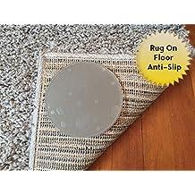 Sticky Discs antideslizante alfombra almohadillas para rug-on-floor antideslizante. Reutilizable Alfombra pegatinas. Sin residuos. 8unidades. Límites mediana/grande de alfombras/ejercicio/felpudos de movimiento en suelos. Nuevo.