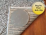 Sticky Discs Non-Slip Rug Pads For RUG-ON-FLOOR Anti-Slip. Reusable Rug Stickers. No Residue. 8 Pack. Limits MEDIUM/LARGE Rugs/Exercise/Door Mats From Moving On FLOORS. BRAND NEW!