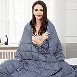 jaymag Therapiedeken, 135 x 200 cm, 7 kg gewichtsdeken voor volwassenen, verzwaarde deken, anti-stress, zware deken voor angs