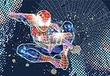 Mural, papier peint de la foto Spider-Man Neon 184x 127Marvel foncé comique Spiderman Dark net Wild