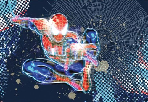 Fototapete Marvel, SPIDER-MAN NEON, 184 x 127 cm, 1-teilig (Hulk Neon)
