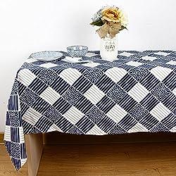 Mantel clásico de tela escocesa Mantel de algodón y lino Mantel rectangular , 140*140