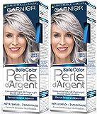 Garnier - Belle Color - Perle d'Argent - Crème déjaunisseur éclat cheveux gris Gris - Gris Perle Lot de 2
