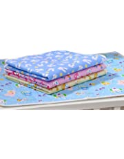 First Smile Nappy Changing Mat/Sleeping mats/Water Proof Bed Protector with Foam Cushioned for New Born Baby 4 Sheets (0-6 Months)