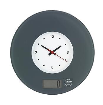 Wenko 53310100 bilancia da cucina con orologio da parete vetro ...