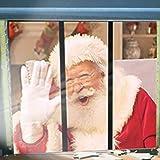 NaiCasy Filmprojektionstuch Fenster Projektor Bildschirm Wei/ß Faltbare Weihnachten Halloween