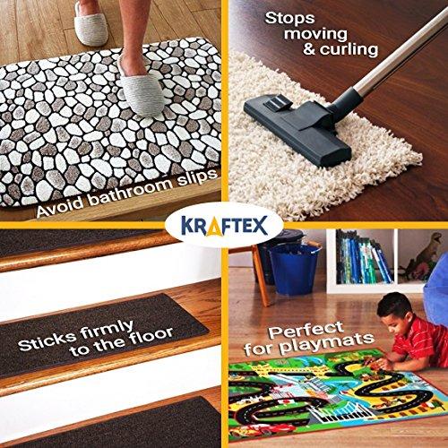 Teppichklebeband - 27m Rolle für Teppiche, Fußmatten, Teppichunterlagen & Stufenmatten - doppelseitiges Klebeband mit Anti-Rutsch-Technologie - ideal für z.B. Hartholz, Fliesen & Laminatboden