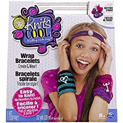 Cool Maker Knit's Cool Wrap Bracelets - Kits de Costura para niños (Knitting, Fashion & Design, Chica, Negro, Rosa, Turquesa, Violeta)