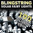Blingstring Outdoor Solar Fairy Lights - White 100 LEDs