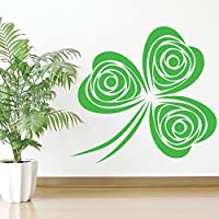 Clover Leaf Swirl Decorazioni Floral Design Wall Sticker Home Decor Art Stickers disponibile in 5 dimensioni e 25 colori Grande Grigio
