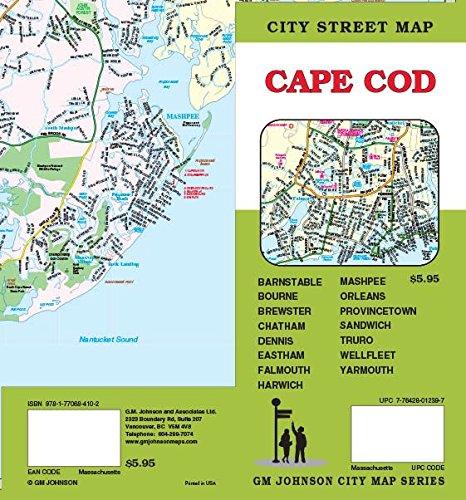 Cape Cod, MA Street Map by GM Johnson (2014-07-23)
