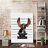 Amphia - Indoor Mode Haustier Hund Malerei.Hund Moderne Zitate Wandtattoos Foto Malerei gerahmt Pop Art Poster
