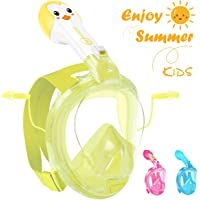 HENGBIRD Tauchmaske Vollgesichtsmaske mit Sportkamera Halter Antibeschlag Antileckage Schnorchelmaske Tauchermaske für Kinder und Erwachsene