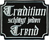 Tradition schlägt jeden trend Ultras Hooligans Fanclub Hoody Aufnäher Patch