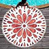 SKKMALL - Toalla Redonda para Playa, Mandala, Estampada, Yoga, con Manta de