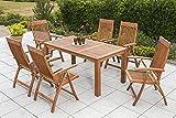 MERXX Gartenmöbel-Set 7tlg. aus Holz