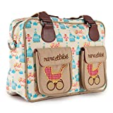 Pink Lining Mama Et Bebe Nappy Bag, Birdcage by Pink Lining