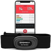 SHANREN Beat 20 Cardiofrequenzimetro fascia toracica, ECG ricaricabile con vibrazione, Bluetooth, Activity tracker ANT…