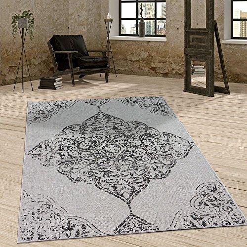 oor Teppich Vintage Design Ornamente Paisley Muster Elegant In Grau, Grösse:160x220 cm ()