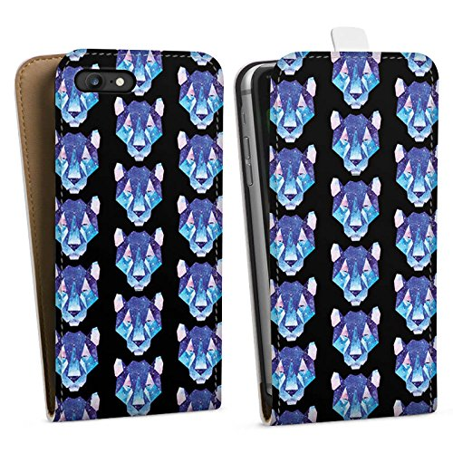 Apple iPhone X Silikon Hülle Case Schutzhülle Space Tiger Muster Weltall Downflip Tasche weiß