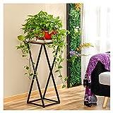 Cdbl scaffale di stoccaggio Flower stand in ferro e legno Simple Modern Fashion Living Room Arte e bellezza a forma di X supporto in legno massello Scaffale per piante (dimensioni : 30 * 30 * 80)