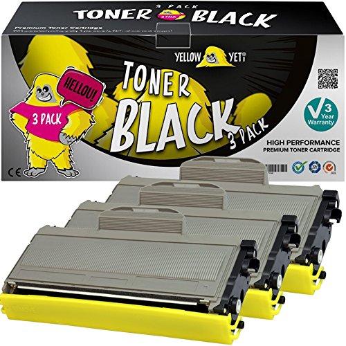 Yellow Yeti TN2120 TN2110 (2600 pagine) 3 Toner compatibili per Brother HL-2140 HL-2150 HL-2170 MFC-7320 MFC-7340 MFC-7440 MFC-7840 DCP-7030 DCP-7040 DCP-7045 [3 Anni di Garanzia]