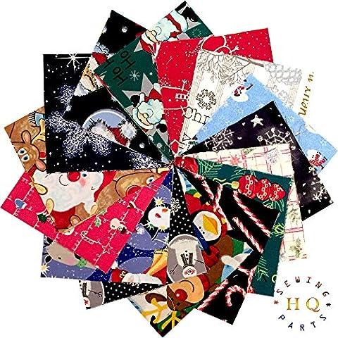 30x Navidad Xmas Patchwork cuadrados encanto paquetes paquete–5