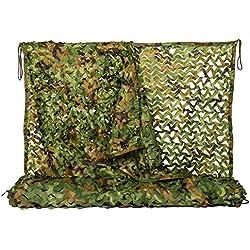 NINAT Filet De Camouflage 2Mx3M La Jungle De Filets Filets Militaire Couverture Camouflage Chasse d'ombrage
