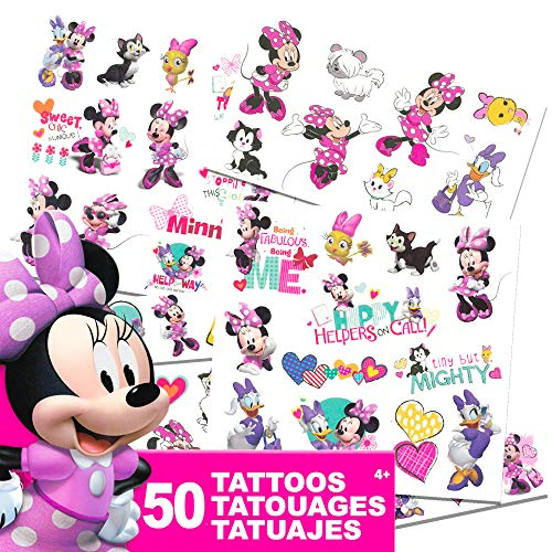 Tattoos - 50 Assorted Temporary Tattoos ~ Minnie Mouse, Daisy Duck, and More! by Savvi ()