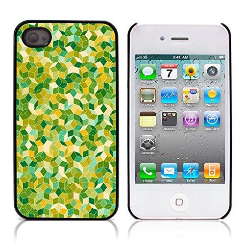 Graphic4You Grün Muster Harte Hülle Case Tasche Schutzhülle für APPLE IPHONE 4 und 4S Design #8