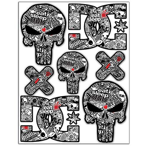 7pcs Pegatinas Punisher Calavera DC Sticker Stickerbomb Vinilo...