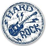 2x Hard Rock Gitarre Musik Vinyl Aufkleber Aufkleber Laptop Reise Gepäck Auto Ipad Schild Fun # 5433 - 15cm/150mm Wide