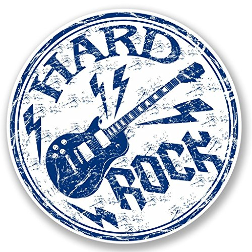 2x Hard Rock Gitarre Musik Vinyl Aufkleber Aufkleber Laptop Reise Gepäck Auto Cool Schild Fun # 5433-10cm/100mm Wide -