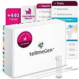 Test DNA Infantile Advanced tellmeGen | (Salute + Tratti personali + Wellness + Origini) | Quello che il DNA dice dei tuoi fi