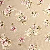 Stoff Baumwolle Polyester natur Rosen englische Rose Dekostoff Teerose
