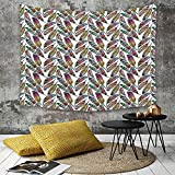 Tapestry, Wall Hanging, Abstraktes, einfarbiges Chevron-Muster Geometrische Elemente Dachziegel Dreidimensional,wall hanging wall decor, Bed Sheet, Comforter Picnic Beach Sheet home décor 180 x 230 cm