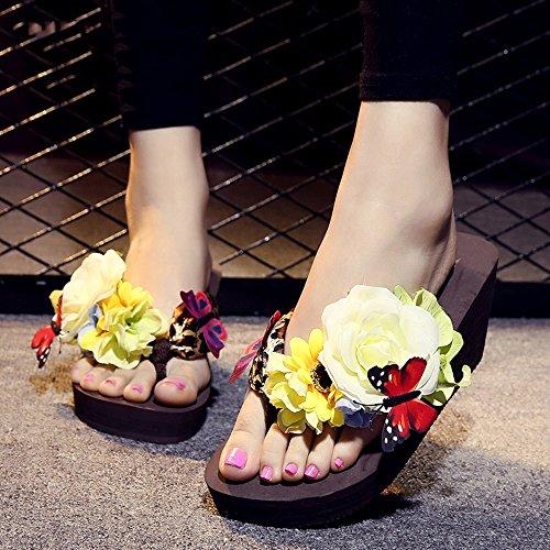 Estate Sandali 7cm I pistoni d'argento femminili di estate dei pattini dell'alto tallone basso spessi Colore / formato facoltativo #6