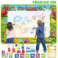 GoZheec Agua Dibujo Pintura, 160 * 120 cm Alfombra de Agua Doodle con Paquete de Transporte y Herramienta de Sello de Rodillo, Regalo de cumpleaños, Juguete Educativo para niños y bebés