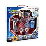 GbaoY Storm Gyro, 4D Be Fusion Model Metal Masters Acceleration Launcher Speed Gyro with Base Arena Blade Best Gift for Children Kids Toys