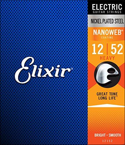 Elixir 12152 - Juego de cuerdas para guitarra eléctrica, .012 - 0.52