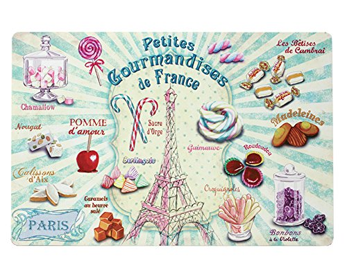 Paris Glam T7000 Confiseries Set de Table Plastique Multicolore 43 x 28,5 cm